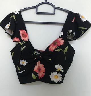 [New] Floral Crop top