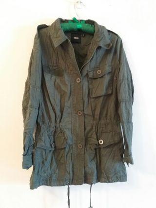 英國 ASOS 綠色軍裝 外套