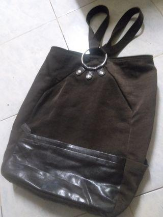 Backpack trim leather
