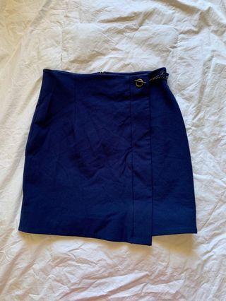 Kookai Midnight Blue Mini Skirt - AU Size 6