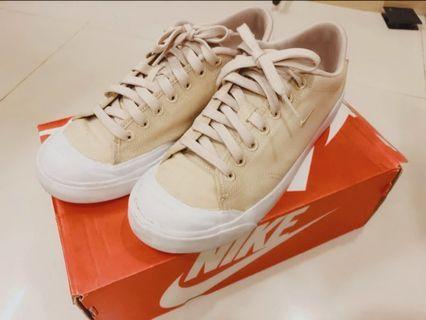 🚚 Nike 帆布休閒鞋 杏色 24號