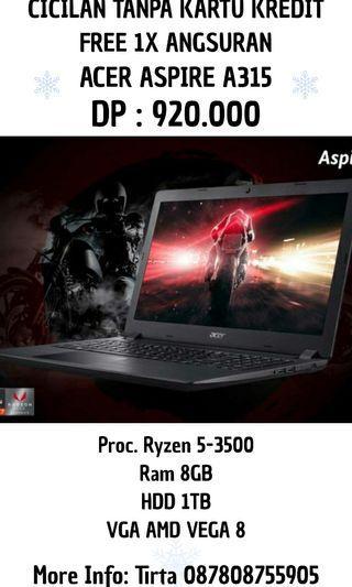 Laptop Acer Aspire A315 Ryzen5 Bisa Cicilan
