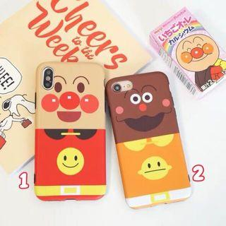 《預購》蘋果手機-日本卡通麵包超人咖哩麵包超人磨砂手機殼及
