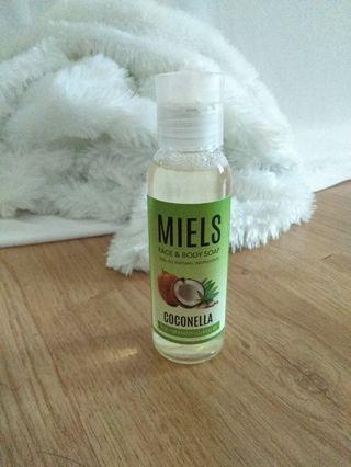 miels coconella face & body soap