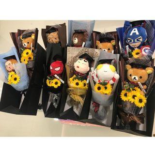 [INSTOCK] Graduation Bouquet | Plush Toy | Soap Sunflower Bouquet