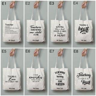 Teacher's Day - Personalised Canvas Tote Bag
