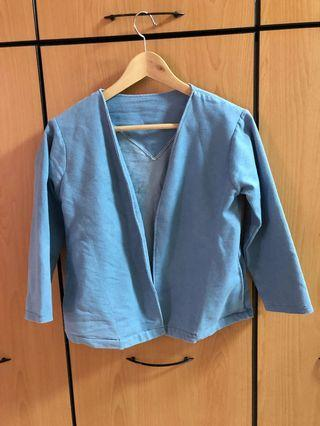 Blue Denim Outerwear (S size with side pockets)