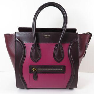Celine Luggage Micro Tricolor Shopper Calf Leather
