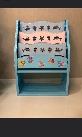 Used Kids Book rack (4 tier)