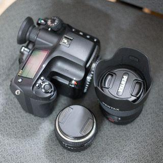 Pentax 645Z with 55mm and 75mm lens