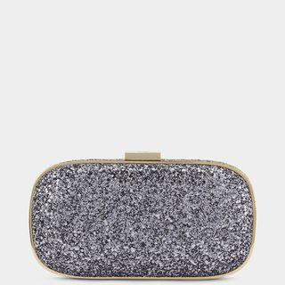Anya Hindmarch Glitter Marano Clutch in Anthracite (Silver) Preorder