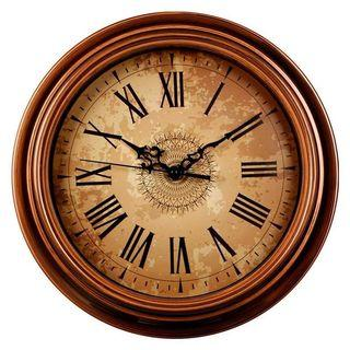 Retro Vintage Silent Non-Ticking Round Wall Clocks Decorative Style Roman