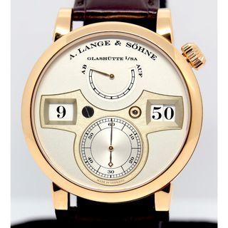 A. Lange & Söhne 18K Rose Gold Lange Zeitwerk Ref 140.032