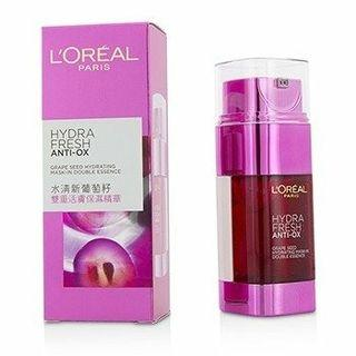 健康飲品 L'OREAL Hydrafresh Anti-Ox Grape Seed Hydrating Mask-In Double Essence  Size: 2x25ml/1.7oz HALF PRICE 50% DISCOUNT SALE