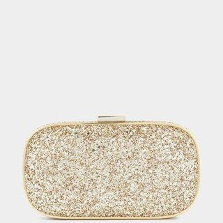 Anya Hindmarch Glitter Marano Clutch in Light Gold Preorder