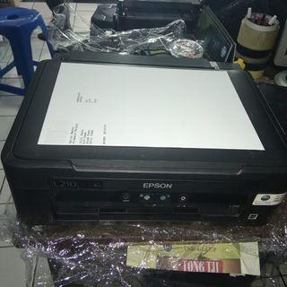 Printer Epson L210 normal siap pakai