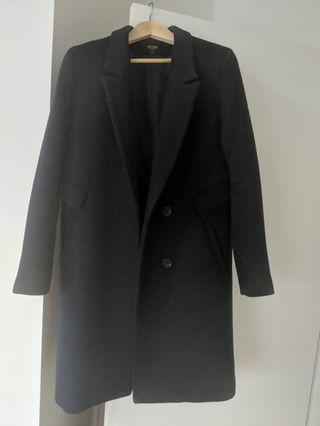 Oxford wool blend navy winter overcoat
