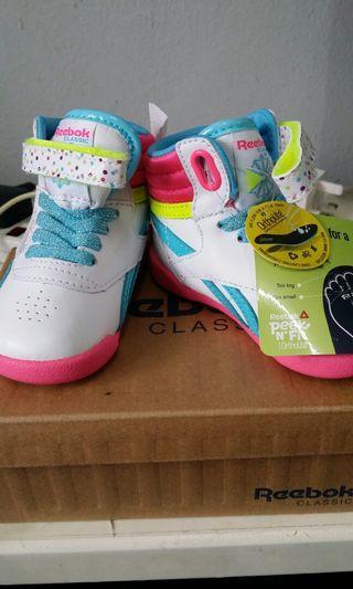 Reebok Kids Girls Freestyle Infant Hi Birthdsy Shoes