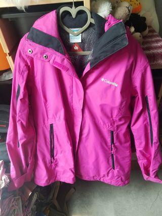 Columbia 女裝防水保暖 兩件套外套 大碼 L size