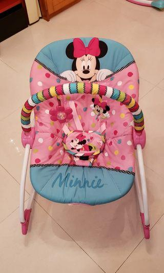 Disney Baby Minnie Mouse Peekaboo Infant To Toddler Rocker 米妮多功能搖椅