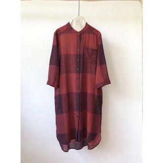 小立領格子連衣裙🉐少量