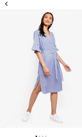 Zalora midi stripe dress