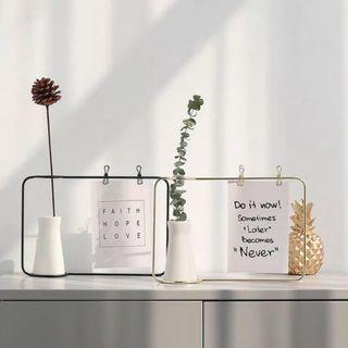 Wire Peg Photo Frame With Vase