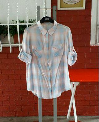 COTTON ON Plaid Long Sleeves Size S Youth Girls