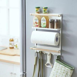 Multipurpose Magnetic Kitchen Organizer With Shelf