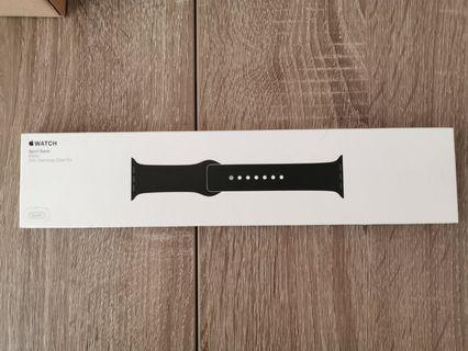Apple watch sport band black 38mm  原裝蘋果黑色手錶錶帶
