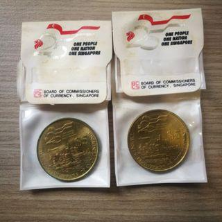 1989 $5 25th Anniversary Singapore Coin