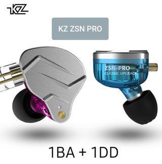 KZ ZSN PRO IEM (1BA+1DD) HiFi IEM with/without Mic + Foam Tips + 1 Month Warranty 1-1 Exchange 《INSTOCK》