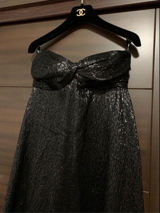 CHANEL 絕美低胸扭結晚禮服 長洋裝