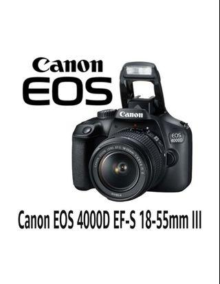 Canon EOS 4000D 18-55mm lll Kit