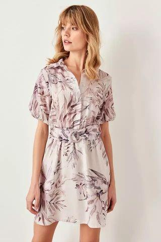 Tropical Belt Dress
