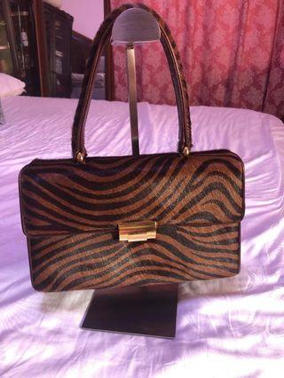 L-Laud brand hand bag original pony hair and leather