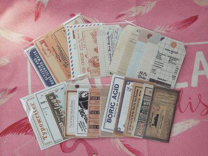 復古手帳貼紙