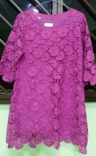 BNWT Purple Lace Top(Size M)