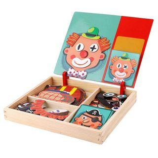 🚚 CREATIVE FACES MAGNETIC PUZZLE SET - EXPLORE, PLAY, & REPEAT!: Pre-order 9 days delivery