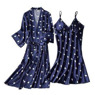Sleep dress with kimono