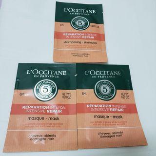 Loccitane Shampoo and Mask