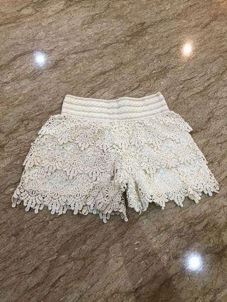 White Lace Short Pants