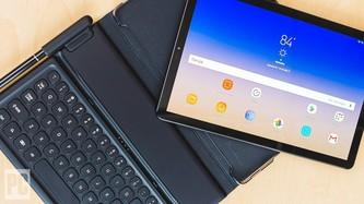 Samsung Tab S4 LTE tablet with keyboard cover and pen
