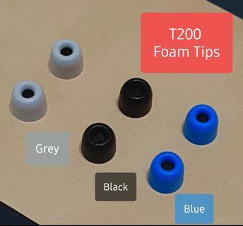 《INSTOCK》T200 In-Ear Memory Foam Tips (Black, Grey, Blue)