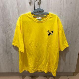 韓國 塗鴉上衣 黃色