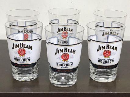 JIM BEAM GLASS (6 pcs)