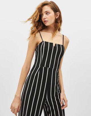 Bershka Striped long jumpsuit
