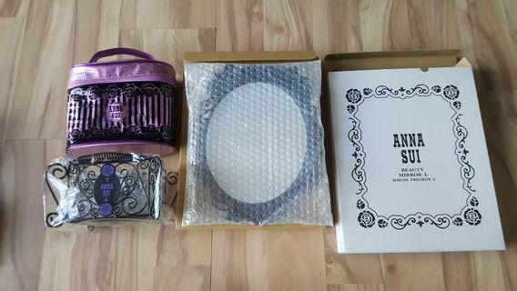 Anna Sui Mirror, Metal Cage Basket and Pouch