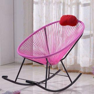 BN Rocking chair★Outdoor patio furniture Black/Pink