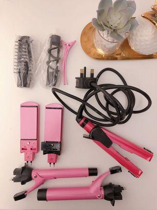 💎BN VS Pink Hair Curler & Hair Straightener Set